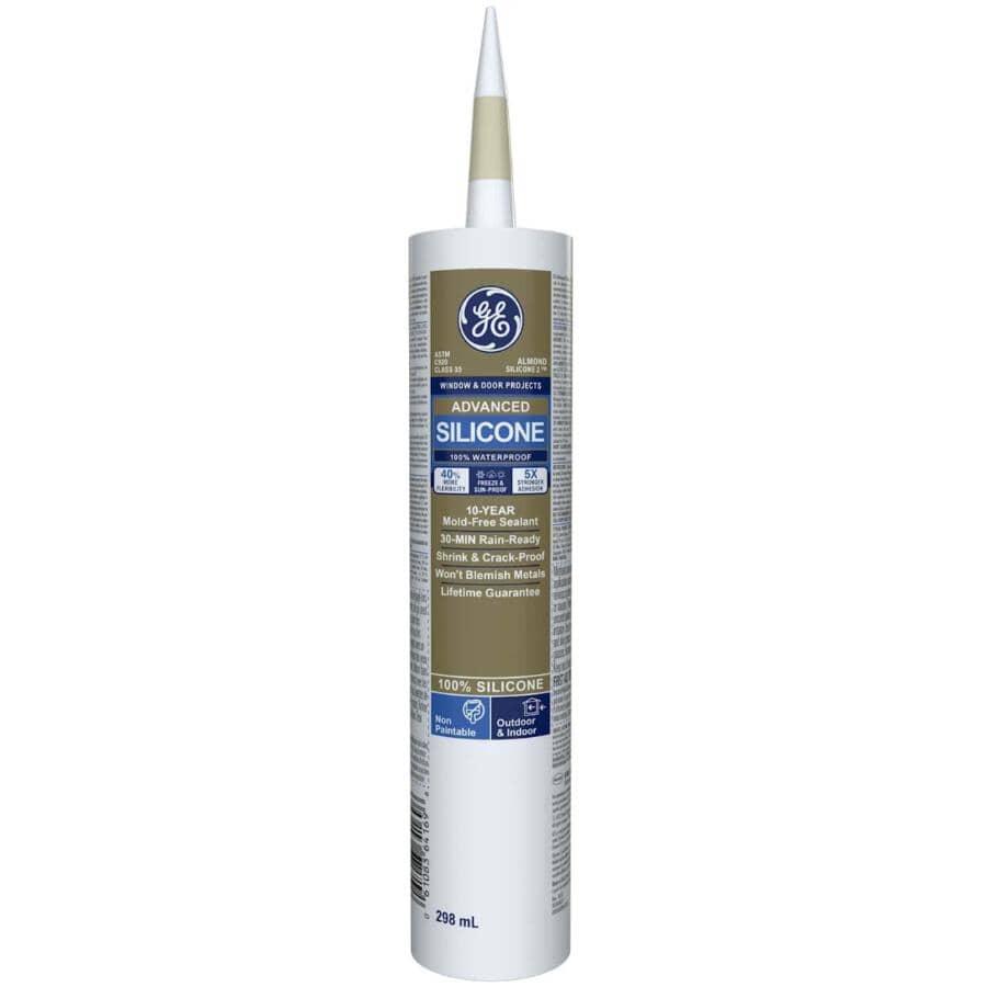 GE:Multi Purpose Silicone II Sealant - Almond, 299 ml