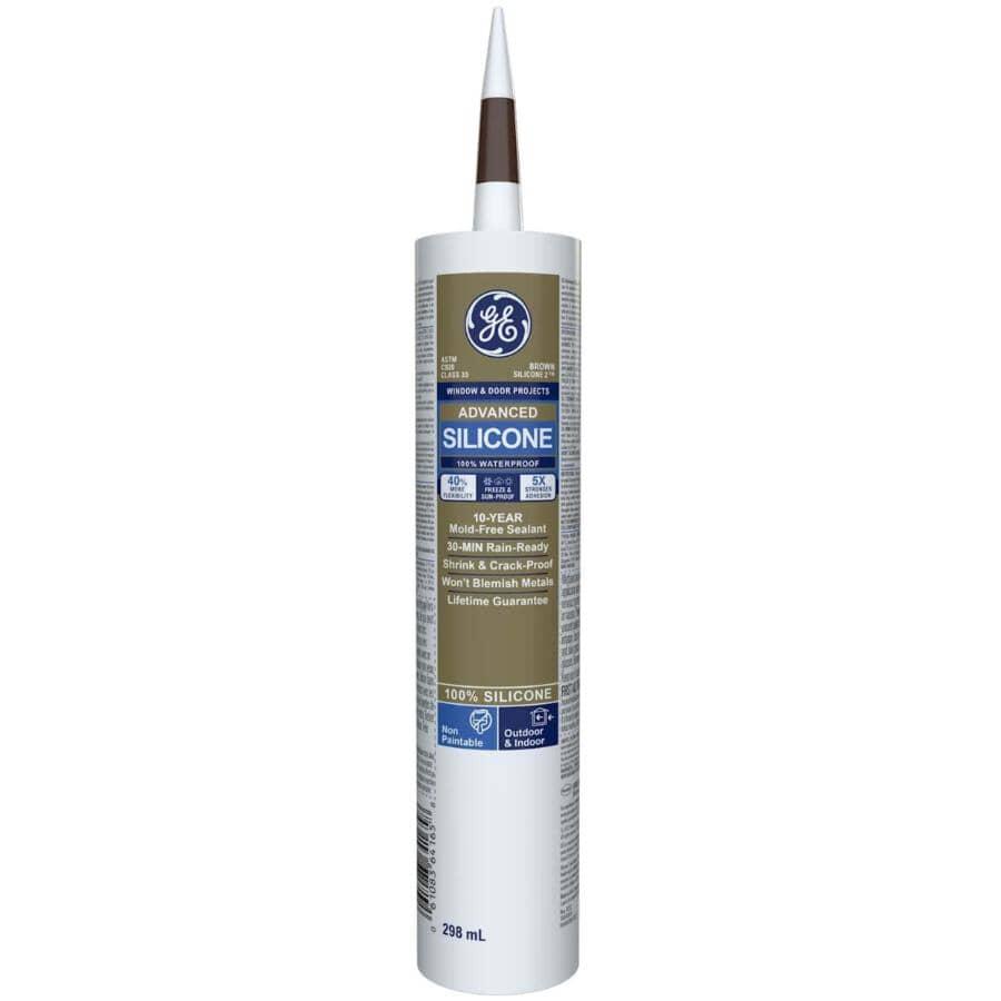 GE:Multi Purpose Silicone II Sealant - Brown, 299 ml