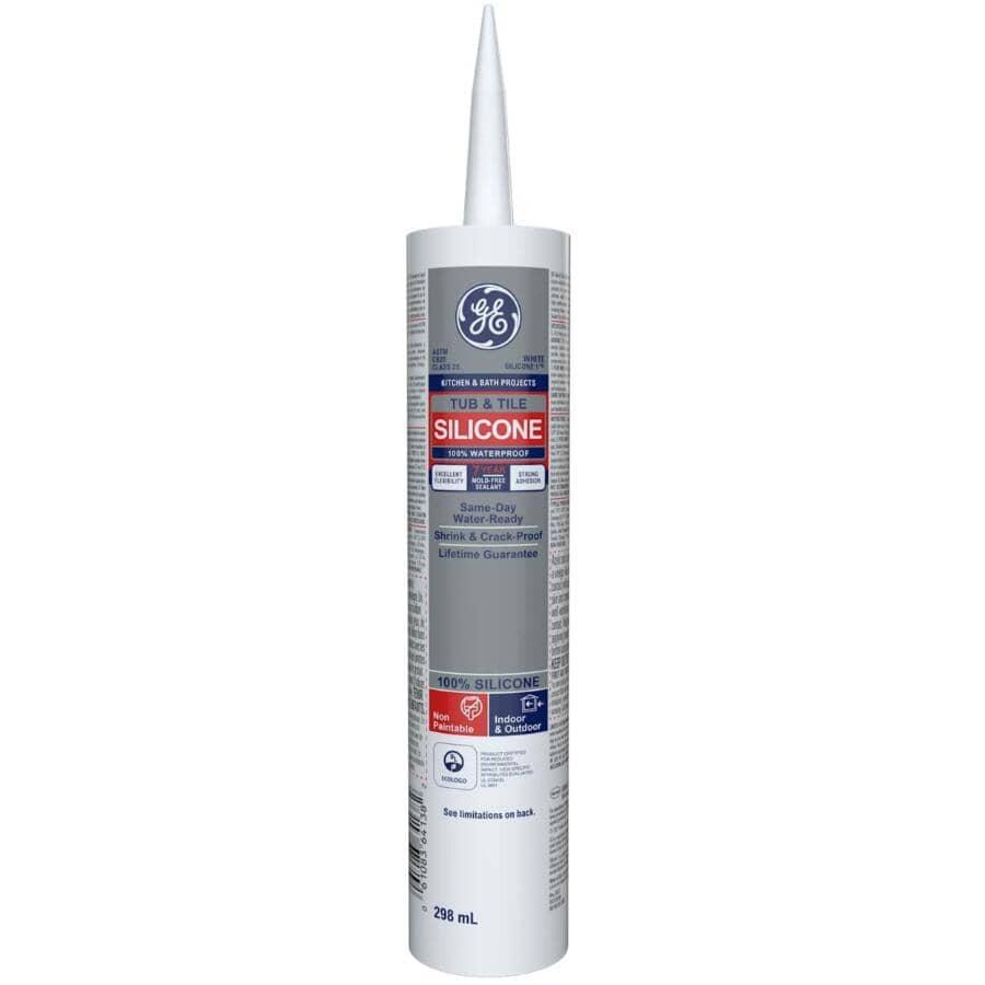 GE:Tub & Tile Silicone Sealant - White, 299 ml