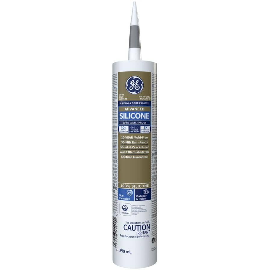 GE:Multi Purpose Silicone II Sealant - Light Grey, 299 ml