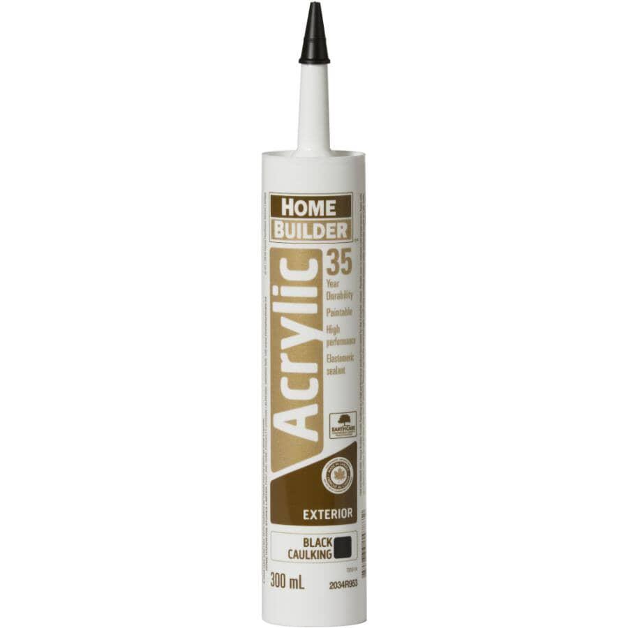 HOME BUILDER:35 Year All Purpose Acrylic Caulking - Black, 300 ml