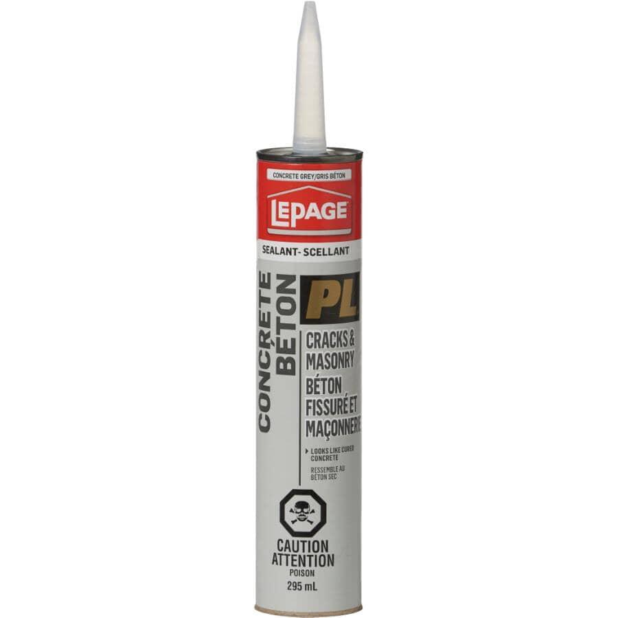LEPAGE:PL Concrete Cracks & Masonry Sealant - Grey, 295 ml