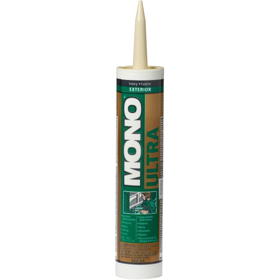 MONO:Ultra Exterior Acrylic Sealant - Ivory, 300 ml