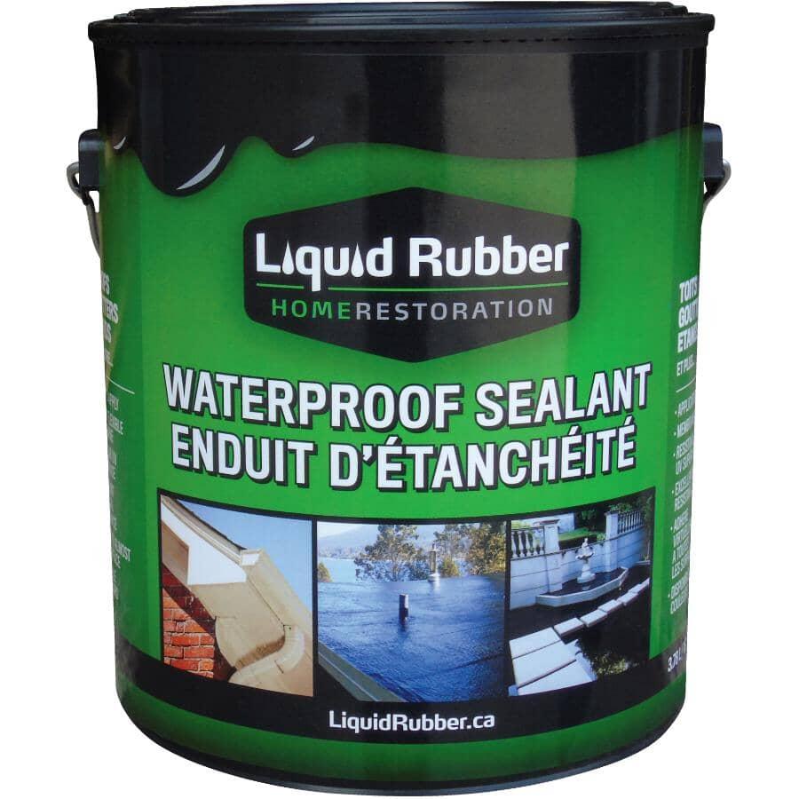 LIQUID RUBBER:Waterproof Sealant - Black, 3.78 L