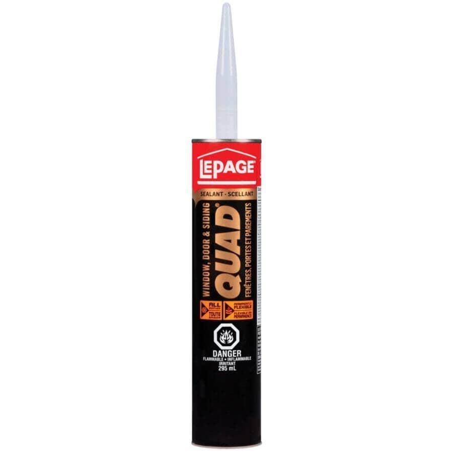 QUAD:Window, Door & Siding Sealant - #000 Clear, 295 ml