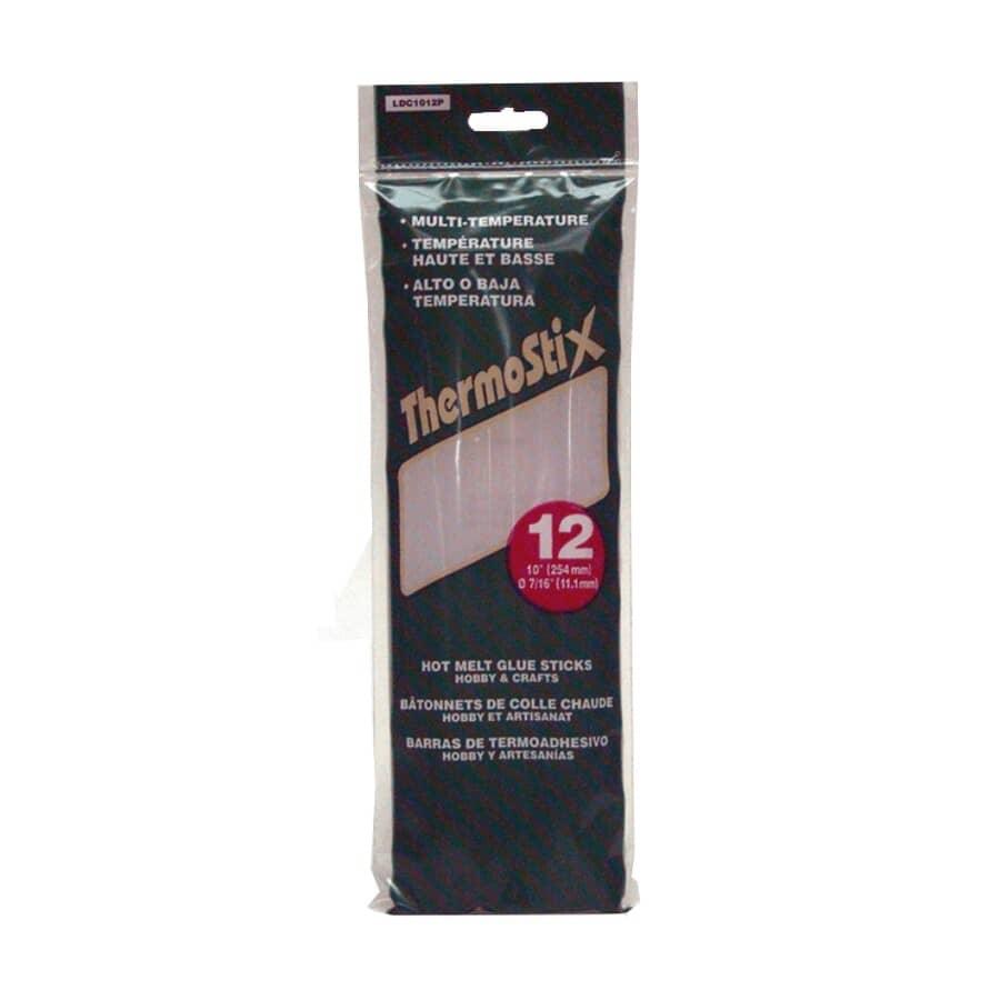 "THERMOSTIX:Multi-Temperature Hot Melt Glue Sticks - 10"", 12 Pack"