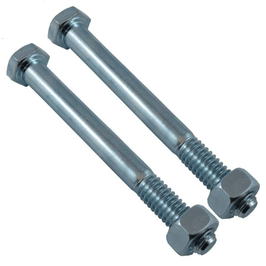 """HOME PAK:2 Pack 5/16"""" x 3-1/2"""" #2 Zinc Plated Hex Bolts, with Nut"""