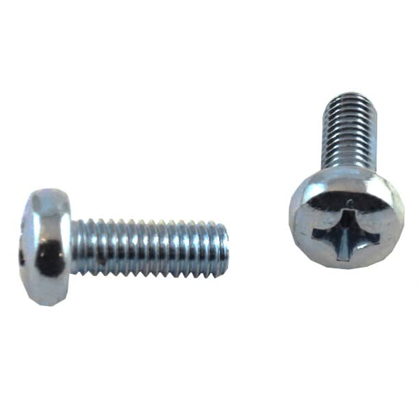 HOME PAK:5 Pack M6 x 16mm Zinc Plated Pan Head Machine Screws