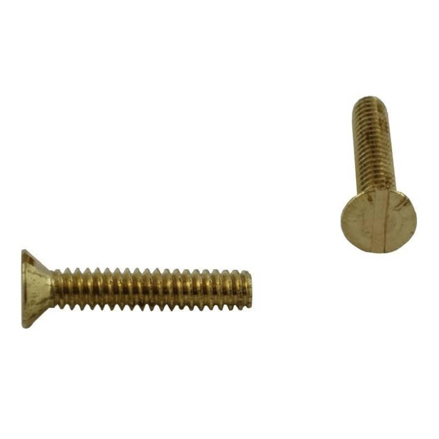 "HOME PAK:5 Pack #10-32 x 1"" Brass Flat Head Machine Screws"