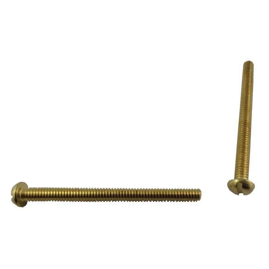 """HOME PAK:5 Pack #8-32 x 2"""" Brass Round Head Machine Screws"""