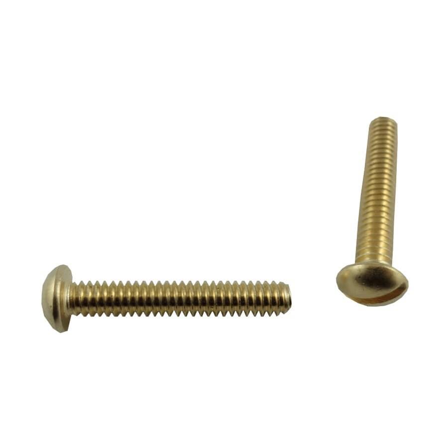 """HOME PAK:5 Pack 1/4-20 x 1-1/2"""" Brass Round Head Machine Screws"""