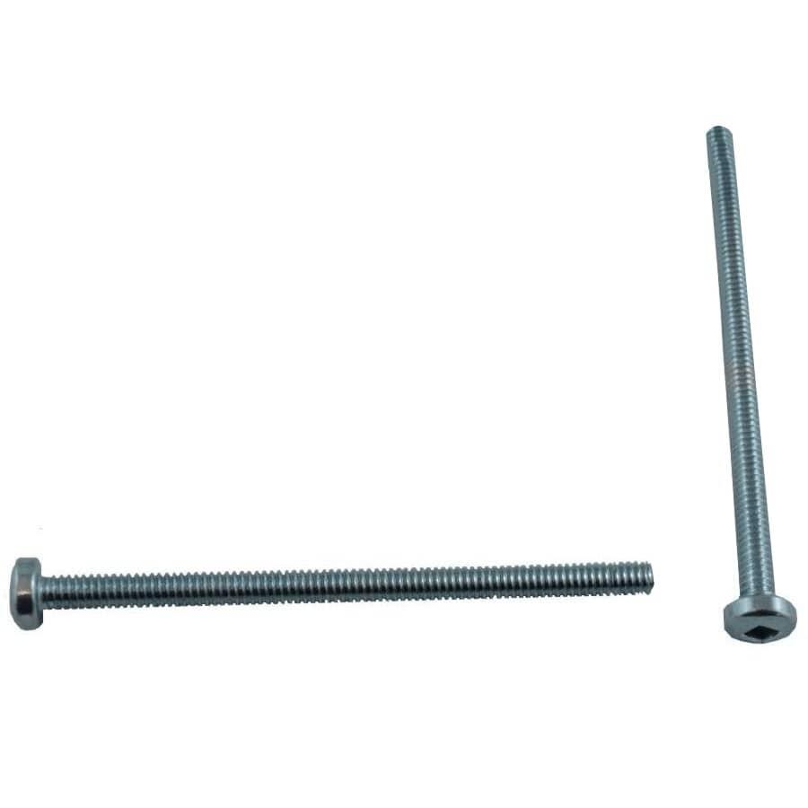 """HOME BUILDER:100 Pack #8-32 x 3"""" Zinc Plated Round Machine Screws"""