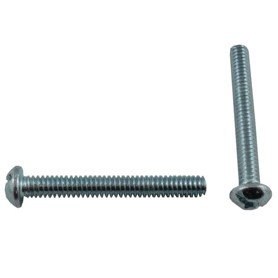 """HOME BUILDER:50 Pack 1/4""""-20 x 2"""" Zinc Plated Round Machine Screws"""