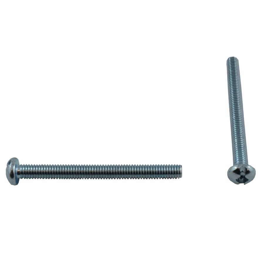 """HOME PAK:10 Pack #10-32 x 2"""" Zinc Plated Round Machine Screws"""