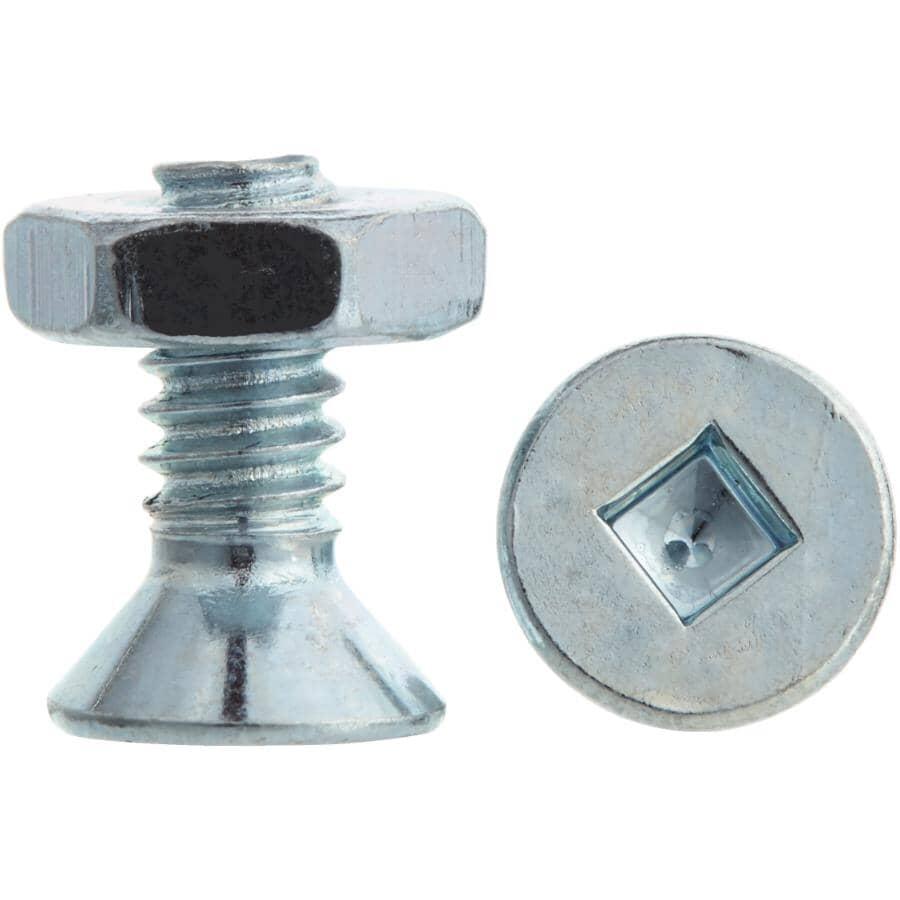 "HOME PAK:10 Pack 10-24 x 1/2"" Zinc Plated Flat Head Machine Screws, with Nuts"