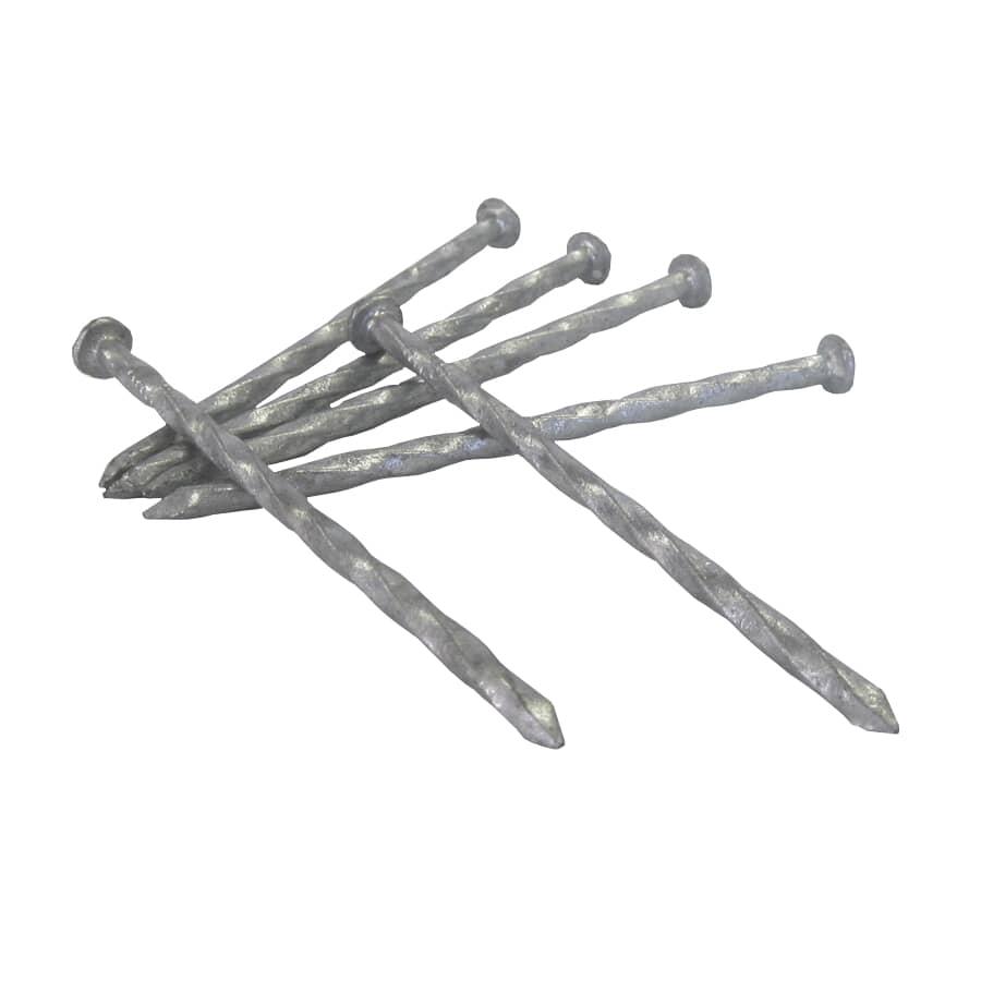"TREE ISLAND:100 Pack 2-1/2"" Hot Galvanized Ardox Spiral Nails"