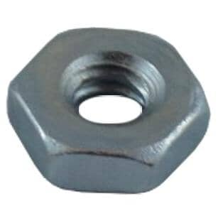 """HOME BUILDER:3/16""""-24 #2 Zinc Plated Coarse Hex Nut"""