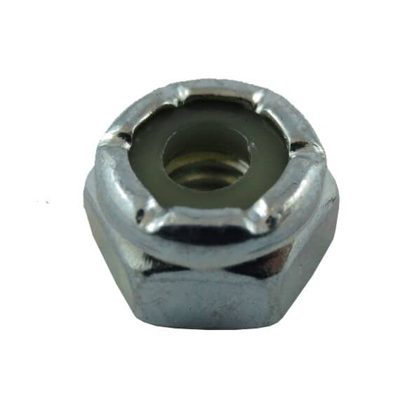 "HOME BUILDER:3/16""-24 Zinc Plated Nylon Insert Lock Nut"