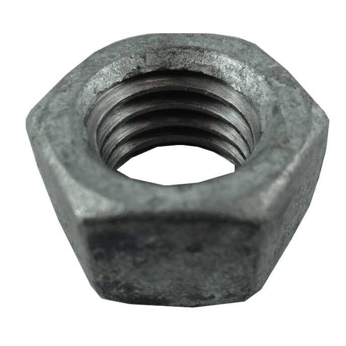 """HOME BUILDER:1/2""""-13 #2 Galvanized Coarse Hex Nut"""