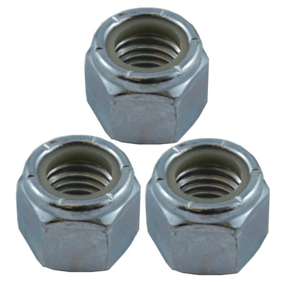 "HOME PAK:3 Pack 3/4""-10 Zinc Plated Nylon Insert Lock Nuts"