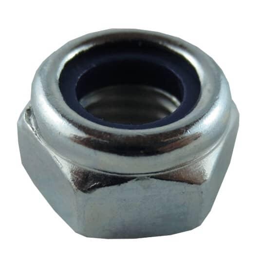 HOME PAK:5 Pack M8 Zinc Plated Nylon Insert Lock Nuts