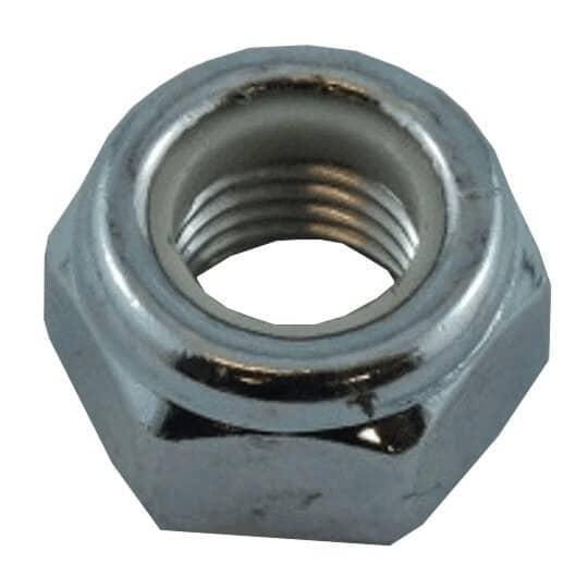 HOME PAK:5 Pack M10 Fine Zinc Plated Nylon Insert Lock Nuts