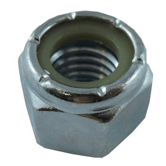 "HOME BUILDER:1/2""-13 Zinc Plated Nylon Insert Lock Nut"