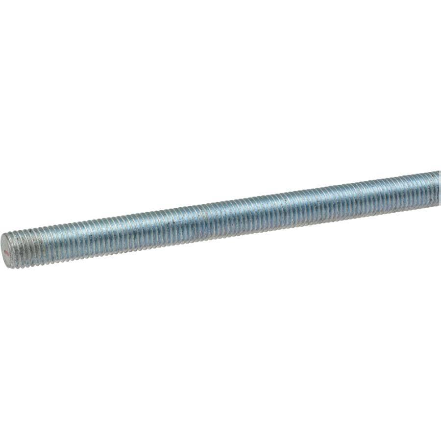 "BUILDER'S HARDWARE:3/4""-10 x 2' Zinc Plated Threaded Rod"