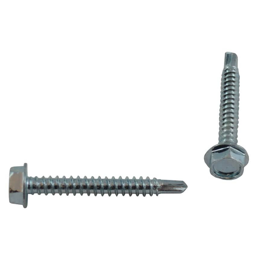 """HOME BUILDER:100 Pack #10 x 1-1/2"""" Hex Washer Head Self-Drilling Tap Screws"""