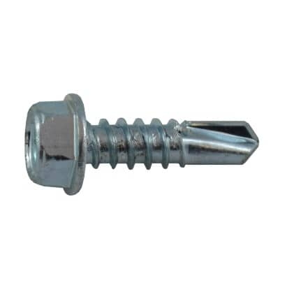 """HOME BUILDER:10 Pack #12 x 3/4"""" Hex Washer Head Self-Drilling Tap Screws"""