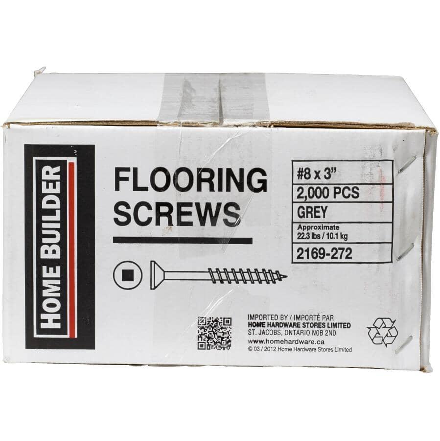 """HOME BUILDER:2000 Pack #8 x 3"""" Phosphated Floor Screws"""