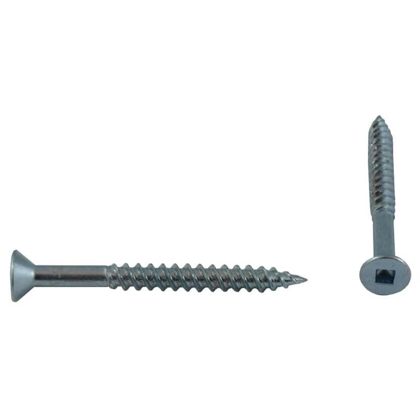 "HOME PAK:5 Pack #10 x 2"" Flat Head Socket Zinc Plated Wood Screws"