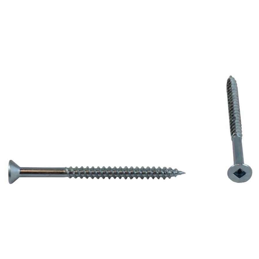 "HOME BUILDER:100 Pack #8 x 2-1/4"" Flat Head Socket Zinc Plated Wood Screws"