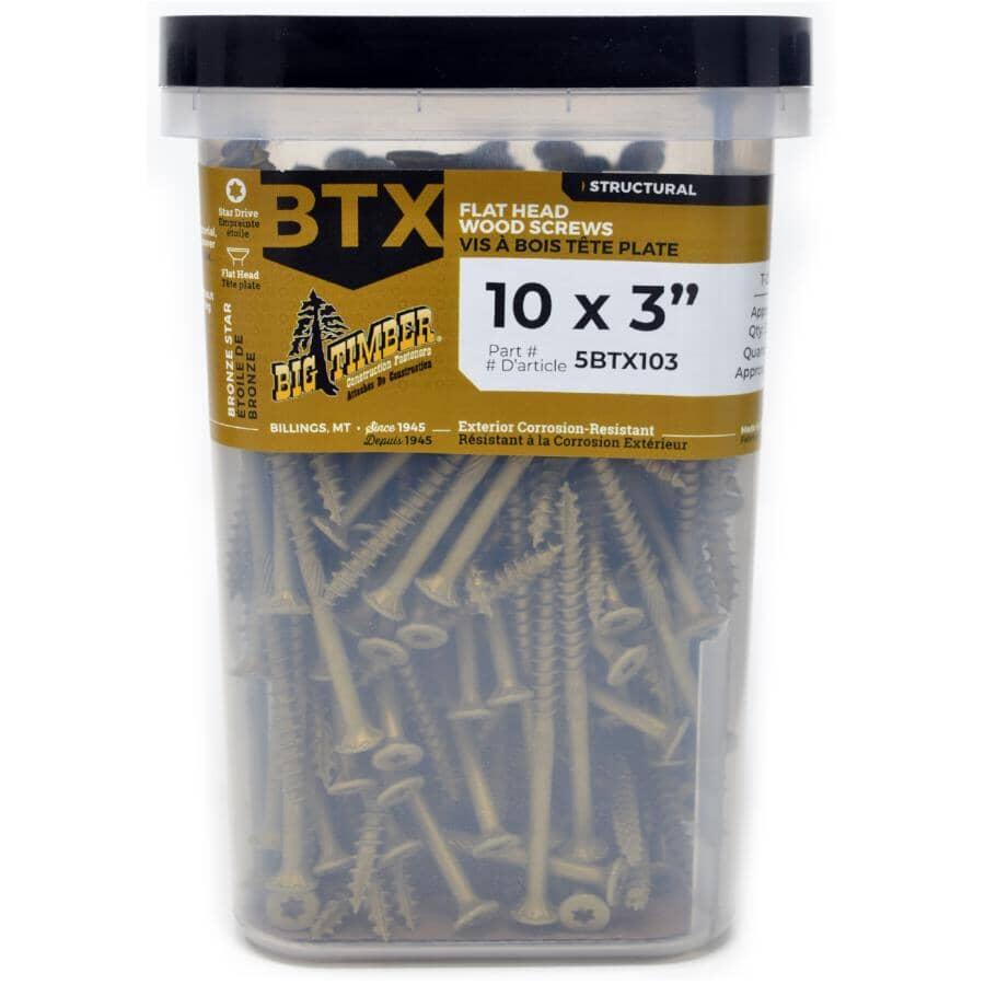 "BIG TIMBER:#10 x 3"" Bronze Star Drive Deck Screws - 5 lb Pack"