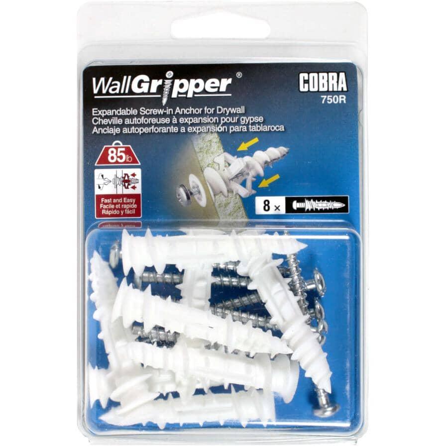 "COBRA ANCHORS:8 Pack #8 x 2-1/4"" Wallgripper Anchors"