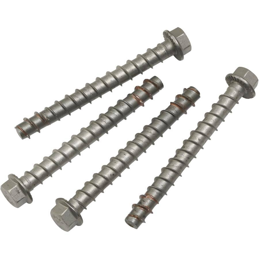 """HOME BUILDER/SIMPSON STRONG-TIE:4 Pack 3/8"""" x 4"""" Stainless Steel Wedge Bolts"""