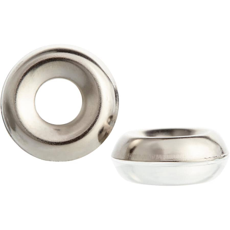 HOME BUILDER:#8 Nickel-Plated Steel Finish Washer