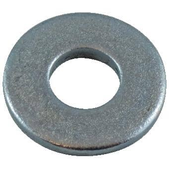 """HOME BUILDER:100 Pack 1/4"""" Zinc Plated Flat Washers"""