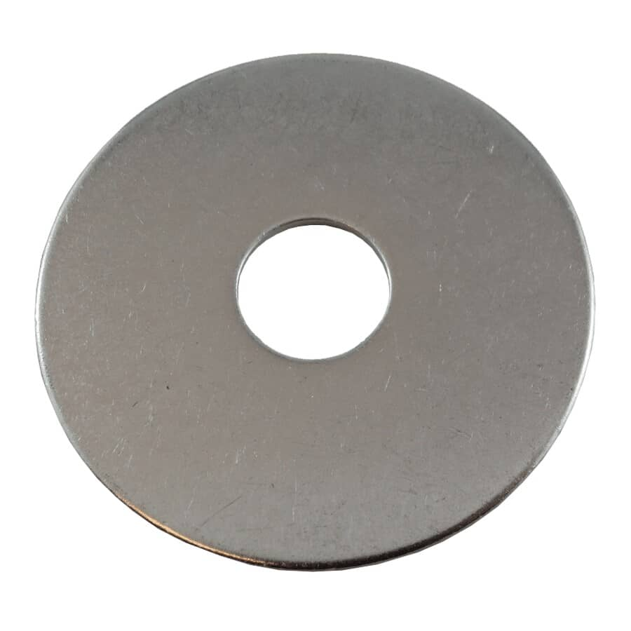 """HOME PAK:25 Pack 1/2"""" x 2"""" 18.8 Stainless Steel Fender Washers"""