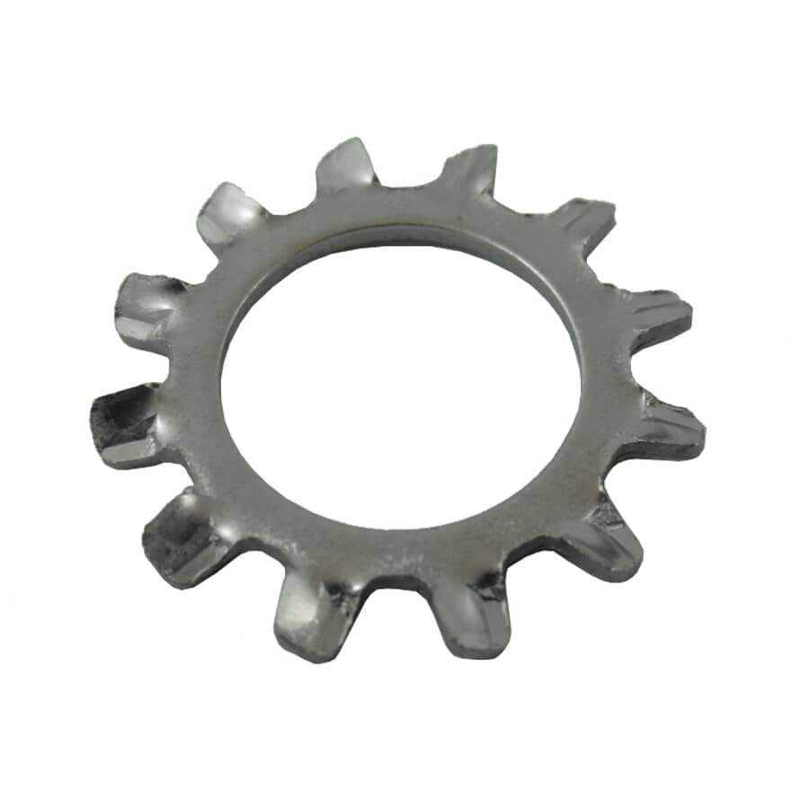 """HOME PAK:10 Pack 1/2"""" 410 Stainless Steel External Tooth Lock Washers"""