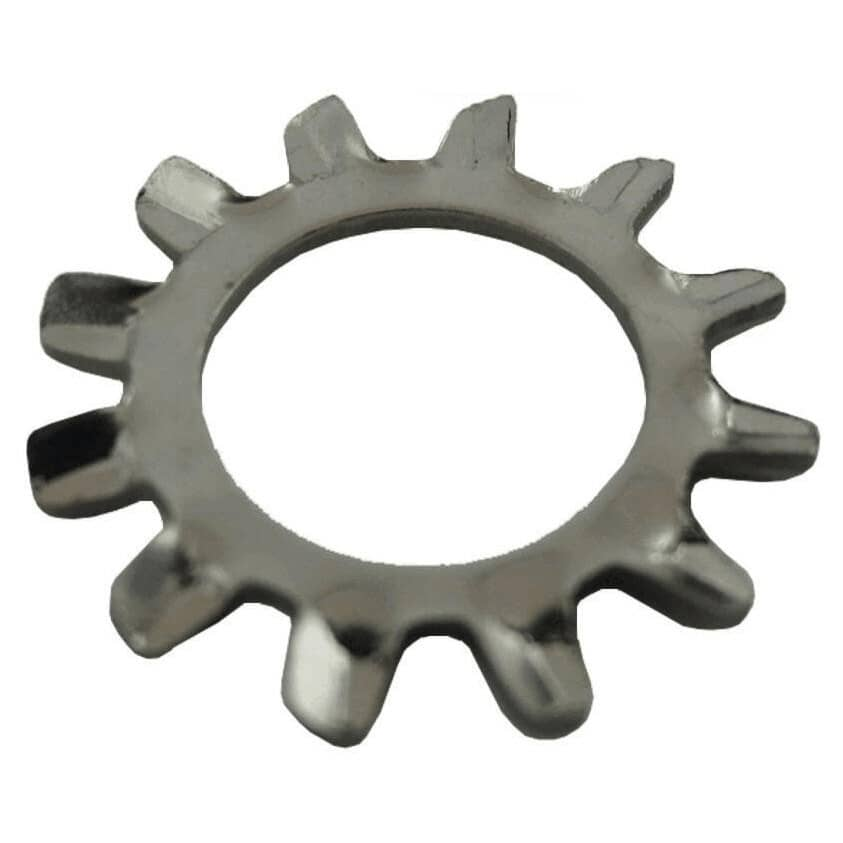 """HOME PAK:10 Pack 3/8"""" 410 Stainless Steel External Tooth Lock Washers"""