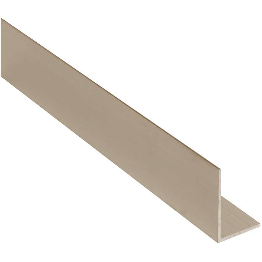 "SHUR-TRIM:1"" x 8' Titanium Outside Angle"