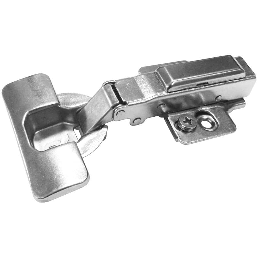 RICHELIEU:105 Degree Full Overlay Concealed Cabinet Hinges - with Plate, 10 Pack