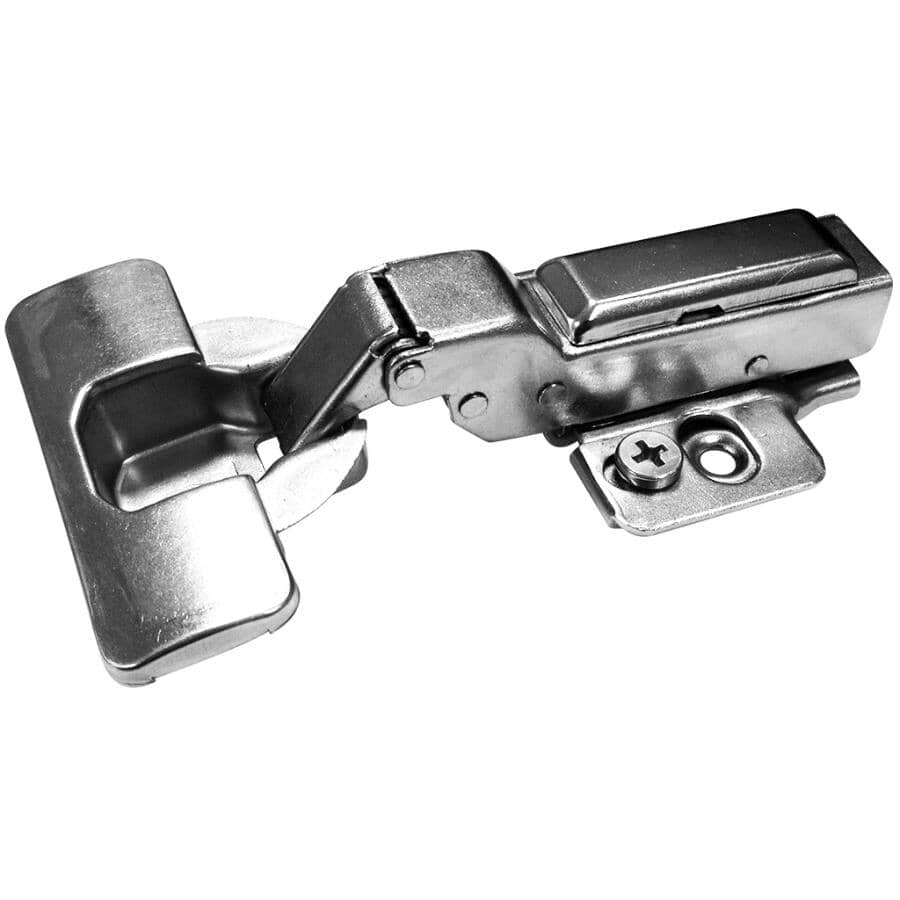 RICHELIEU:105 Degree Half Overlay Concealed Cabinet Hinges - with Plate, 2 Pack