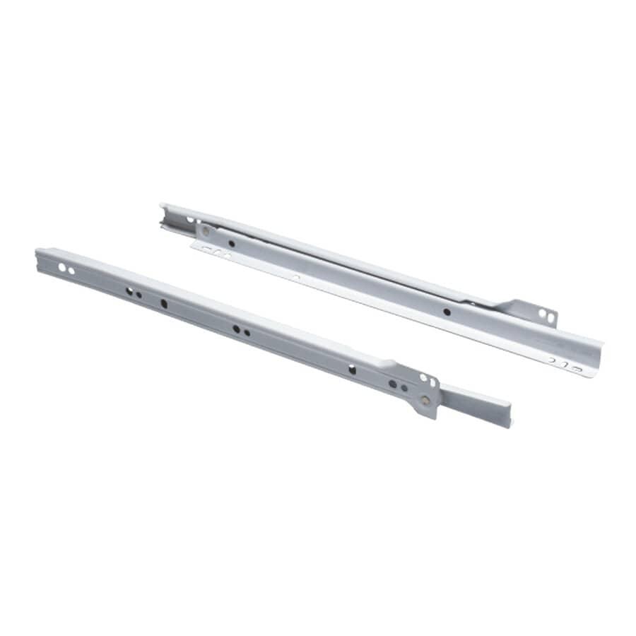 KNAPE & VOGT:Paquet de 2 glissières de style européen pour tiroir, blanc, 24 po