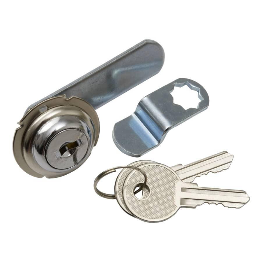 "BUILDER'S HARDWARE:1/4"" Chrome Utility Drawer Lock"