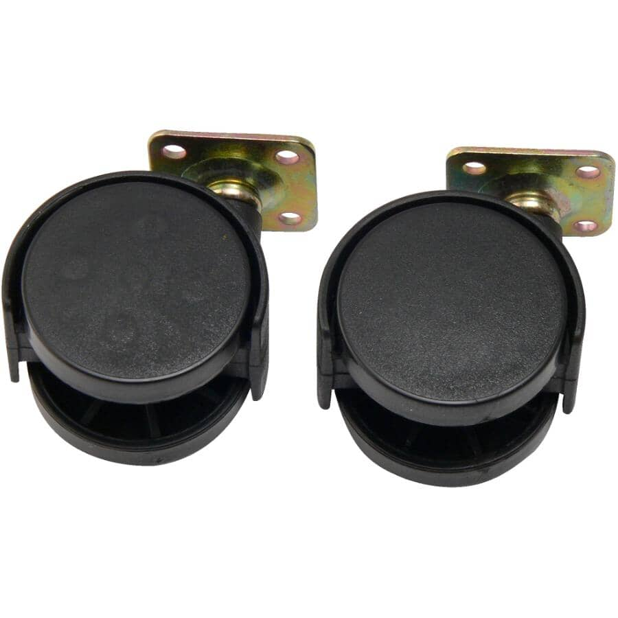 """HOME BUILDER:2 Pack 2"""" Twin Wheel Swivel Plate Casters"""