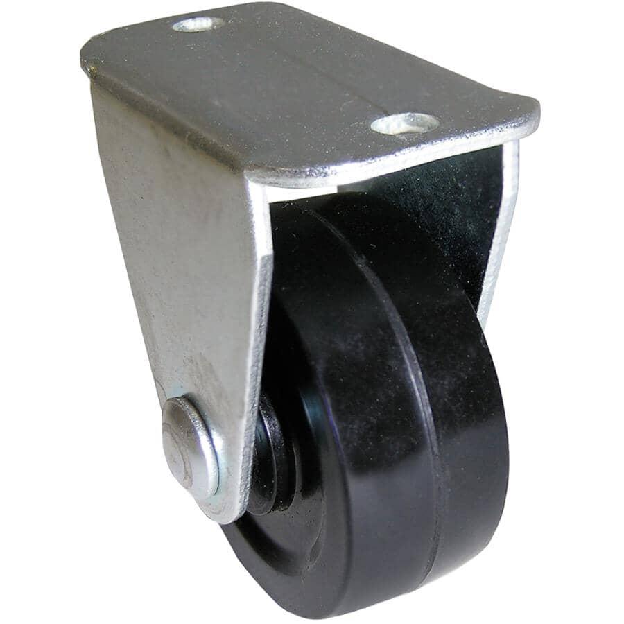 "HOME BUILDER:1-1/4"" Rubber Rigid Plate Caster"