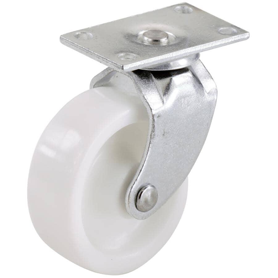 SHEPHERD HARDWARE PRODUCTS:Paquet de 4 roulettes pivotantes de 1-5/8 po sur plaque, blanc