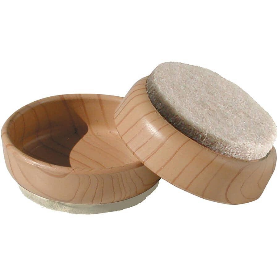 SHEPHERD HARDWARE PRODUCTS:Paquet de 4 coupelles rondes de 2-3/8 po, grain de bois